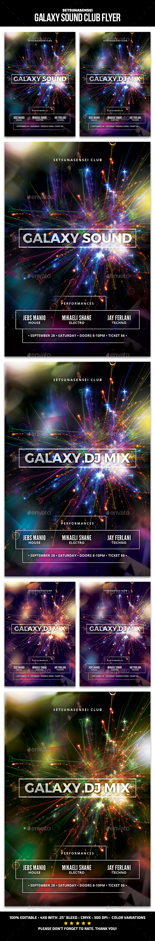 Galaxy Sound Club Flyer - Clubs & Parties Events