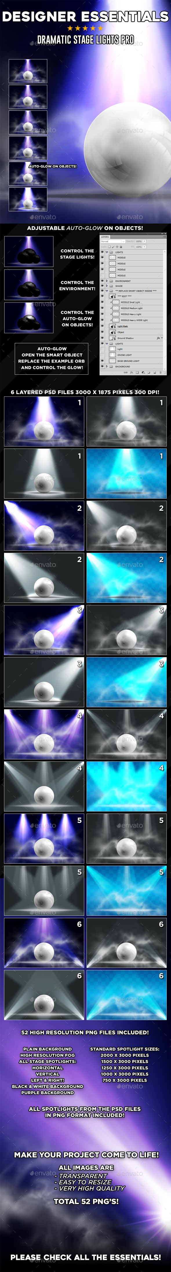 Dramatic Stage Lights Pro - Miscellaneous Product Mock-Ups