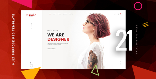 Avele | A Multipurpose PSD Template