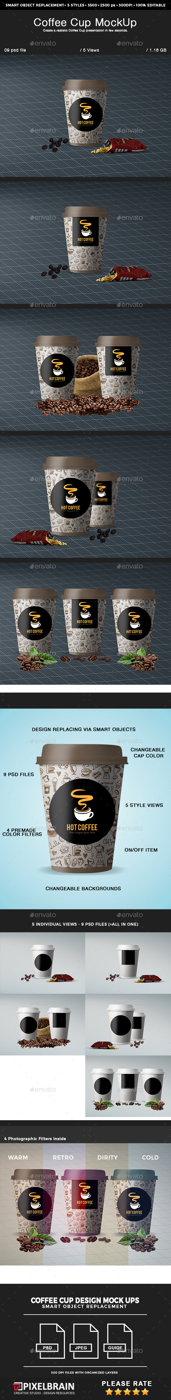 Coffee Cup Mockup Design - Food and Drink Packaging