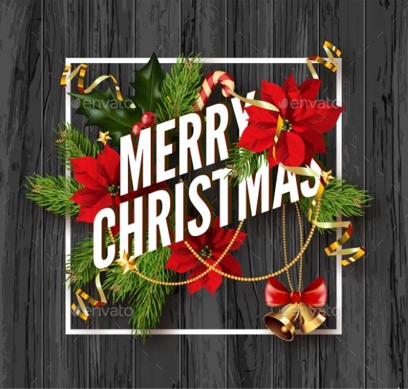 Merry Christmas Greeting Card Template. - Christmas Seasons/Holidays
