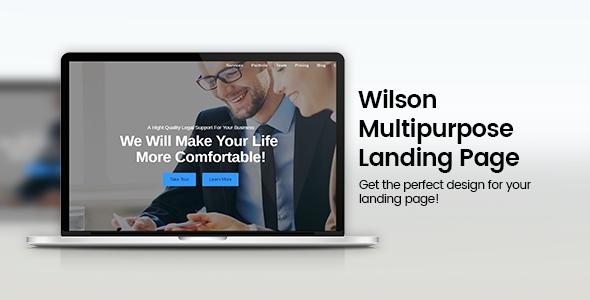 Wilson – Responsive Multipurpose Landing Page