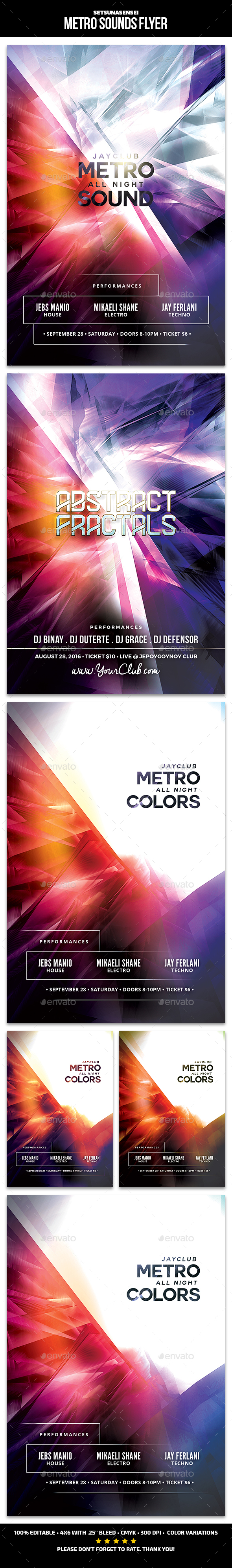 Metro Sounds Flyer - Clubs & Parties Events