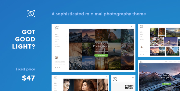 GoodLight - Horizontal WordPress Theme for Photographers - Photography Creative