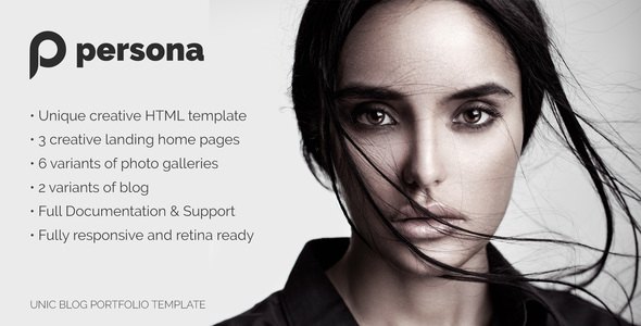 Persona | Photography, Portfolio and Blog template