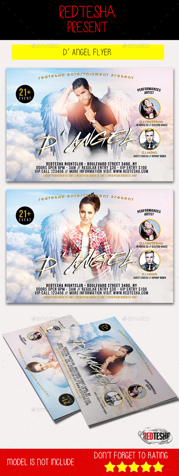 D'Angel Flyer - Clubs & Parties Events