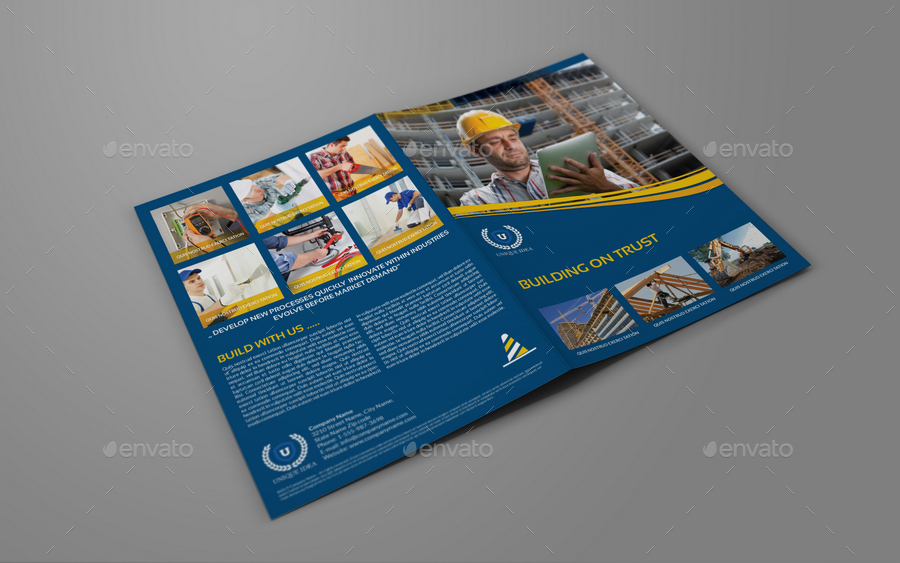 construction brochure templates - construction company brochure bundle vol 1 by owpictures