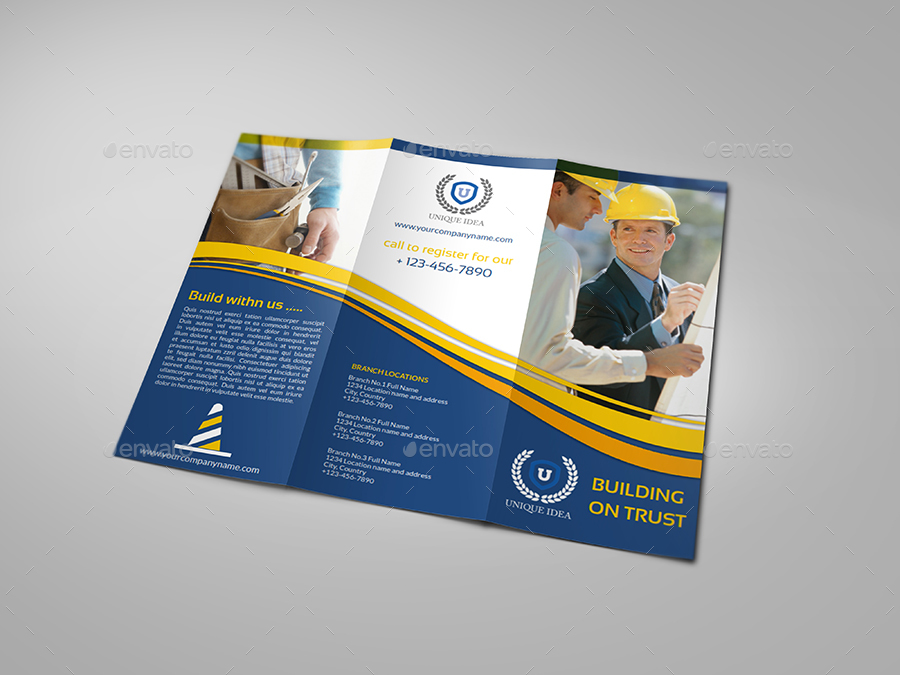 Construction Company Brochure Bundle Vol1 By Owpictures Graphicriver