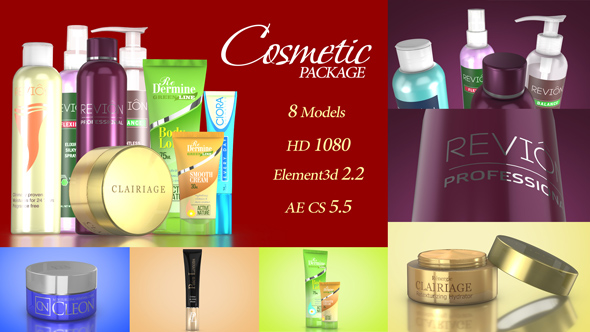 Cosmetic Package Template by v68 | VideoHive