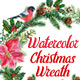 Watercolor Christmas Wreaths - GraphicRiver Item for Sale