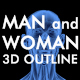 3D Woman- Man Skeleton and Muscle System - VideoHive Item for Sale