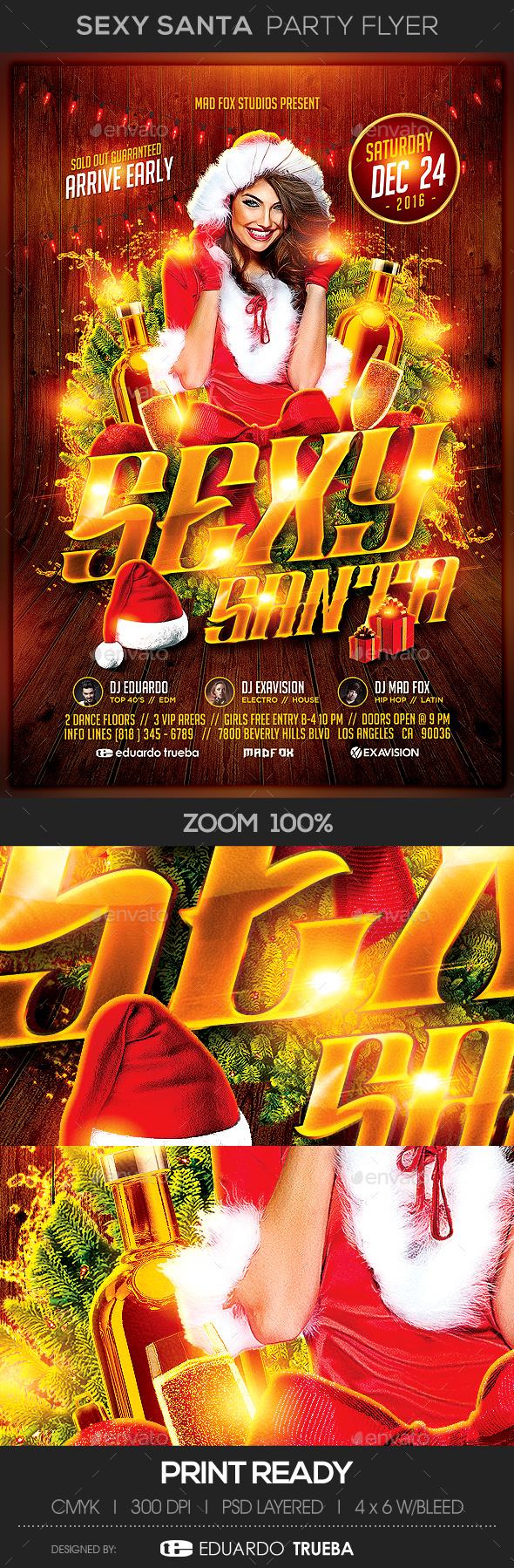 Sexy Santa Party Flyer