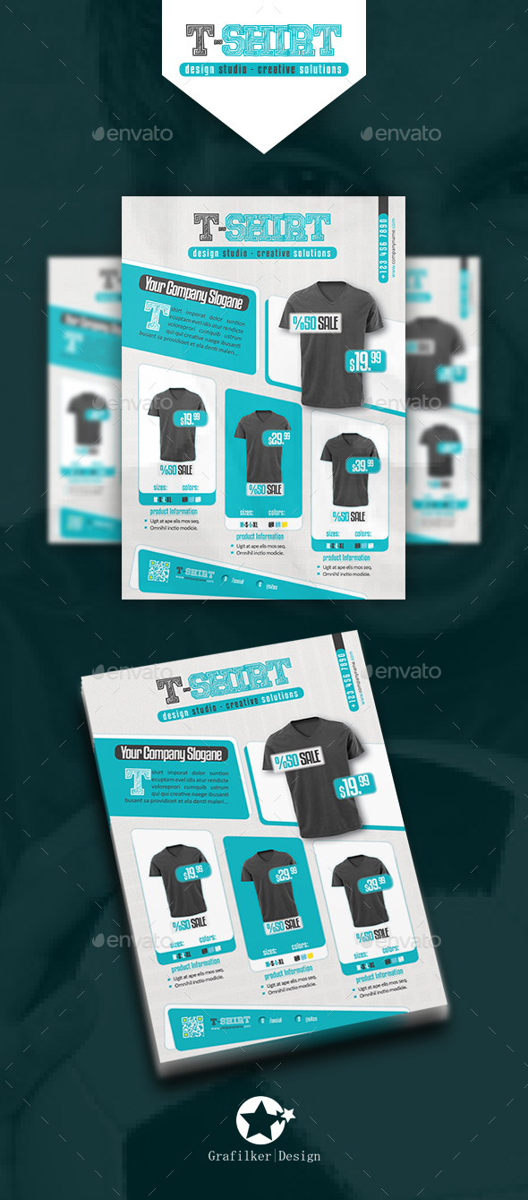 T shirt flyer templates by grafilker graphicriver for T shirt printing design software