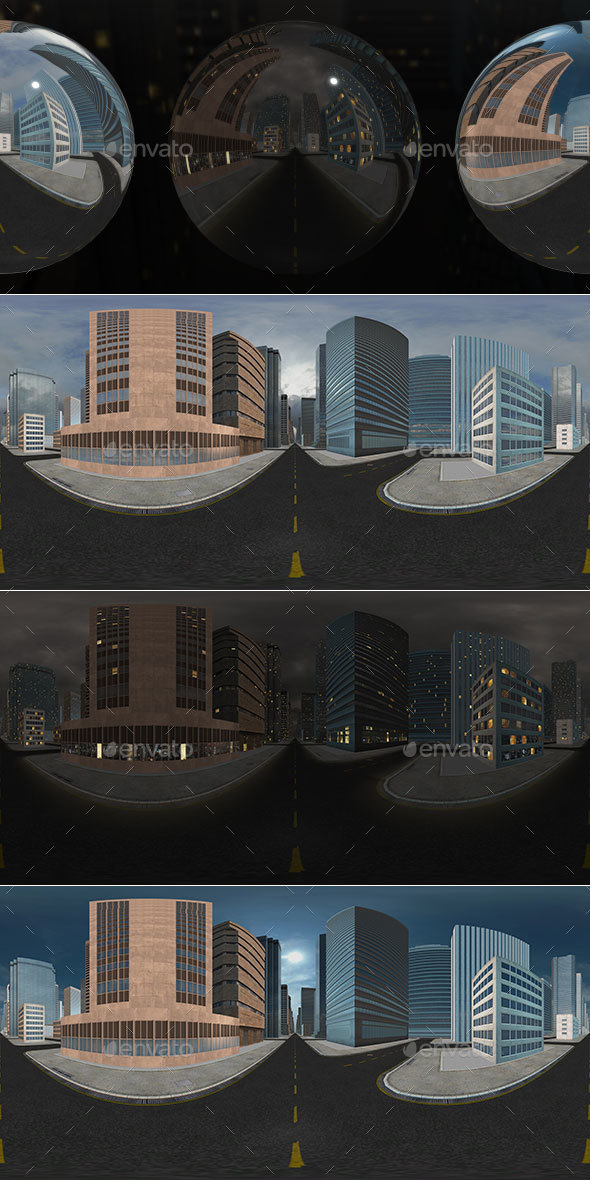 HDRI City Pack Layout2 V2 - 3DOcean Item for Sale