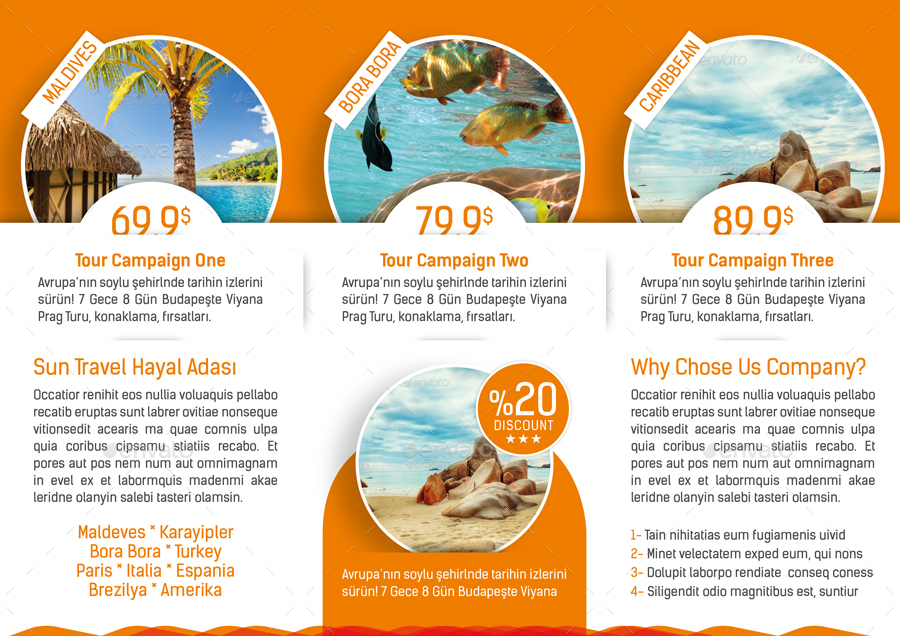 tour brochure template - travel tours tri fold templates by grafilker graphicriver
