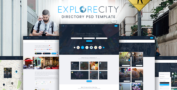 Explore City - Directory Listing PSD Template - Corporate PSD Templates