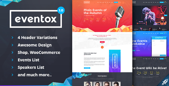Eventox | Event Concert & Conference HTML Template - Events Entertainment