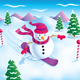 Snowman Snowboarding on the Slopes - GraphicRiver Item for Sale