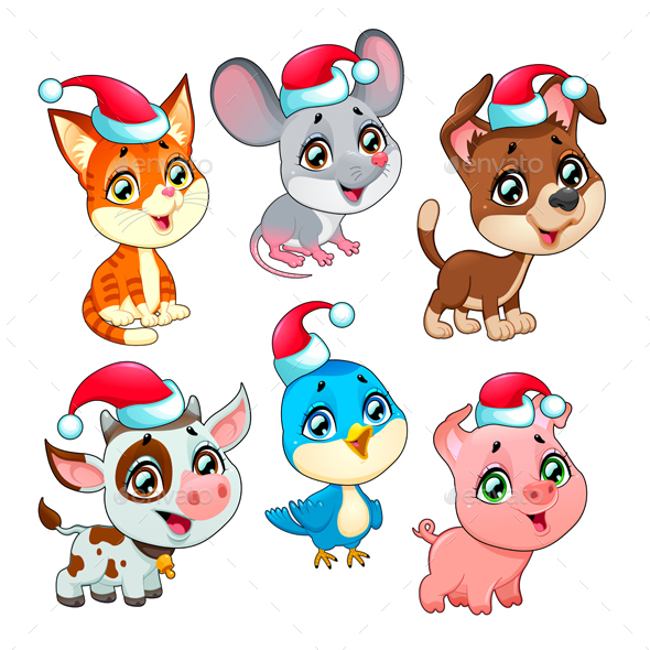 Christmas Farm Animals - Christmas Seasons/Holidays
