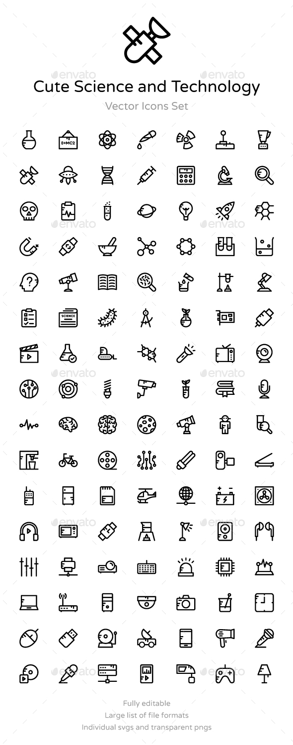 100+ Science and Technology Icons - Icons