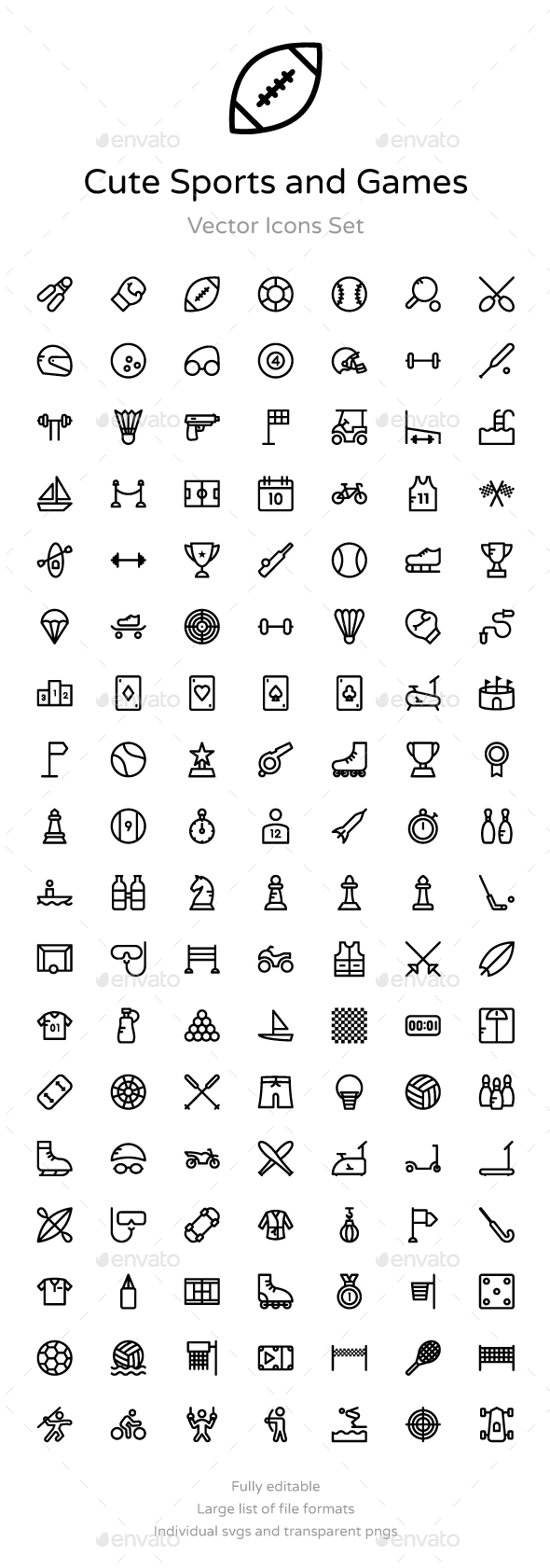 125+ Cute Sports and Games Icons - Icons