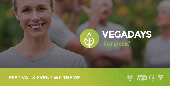 VegaDays - Vegetarian Food Festival or Event WordPress Theme - Events Entertainment