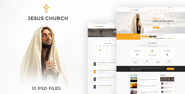 JESUS CHURCH | PSD template - Churches Nonprofit