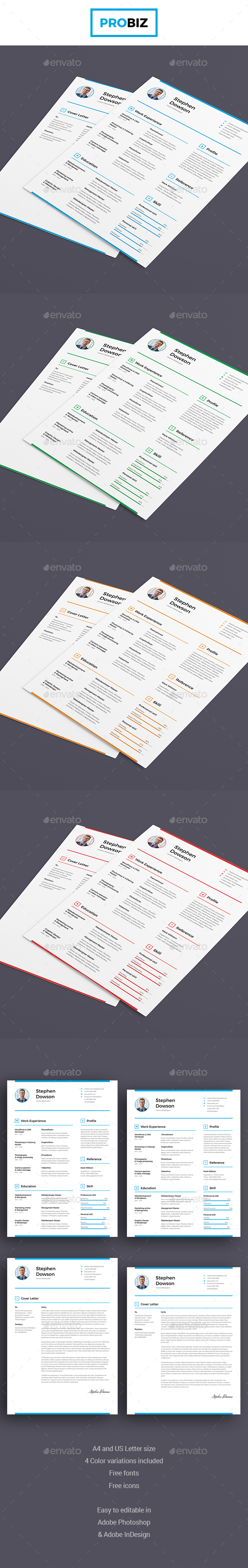 ProBiz – Business and Corporate Resume and Cover Letter