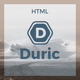 Duric - One Page Creative HTML Template - ThemeForest Item for Sale
