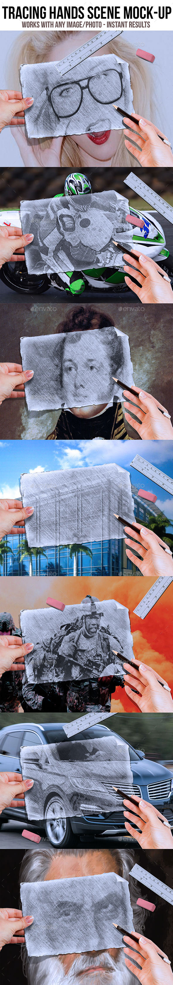 Tracing Hands Scene MockUp - Miscellaneous Photo Templates