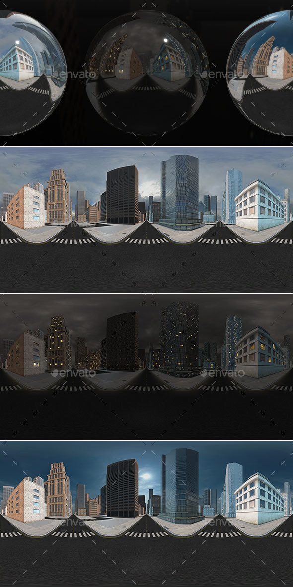 HDRI City Pack Layout4 V1 - 3DOcean Item for Sale