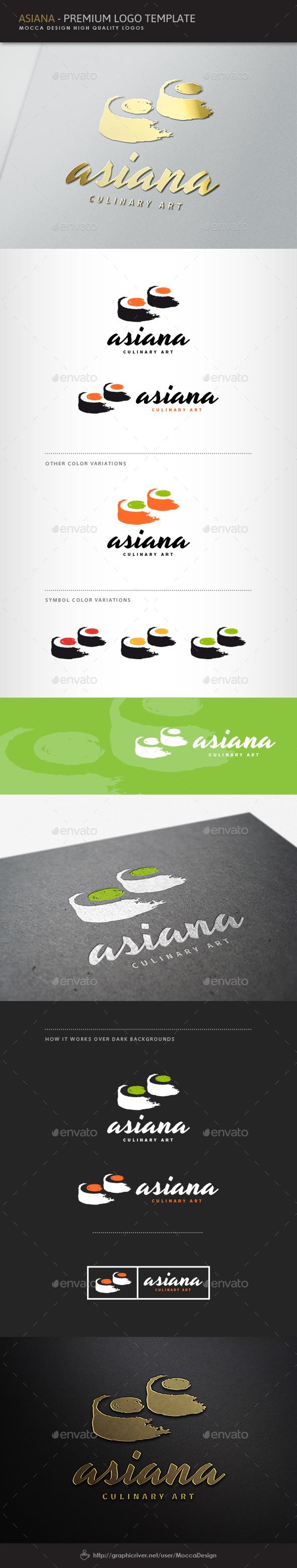 Asiana Logo - Food Logo Templates