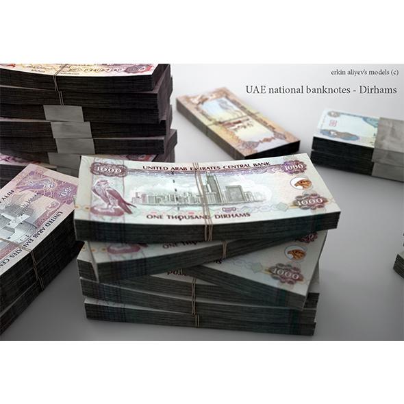 UAE-Dirhams - 3DOcean Item for Sale