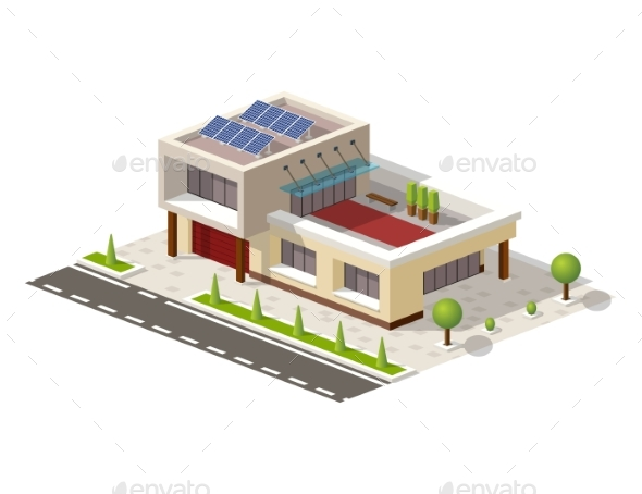 Isometric High-Tech House - Buildings Objects