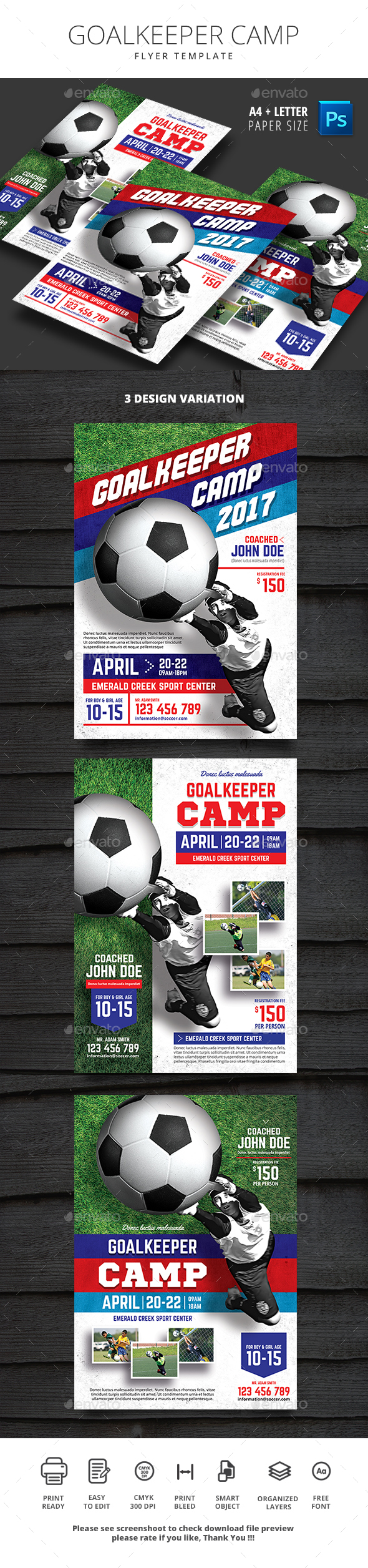 Goalkeeper Camp Flyer - Sports Events