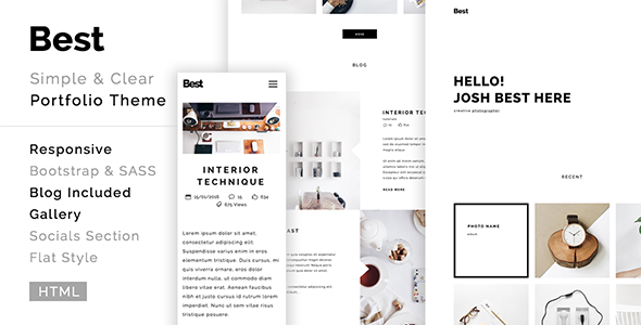 Best - creative, clean, modern portfolio template