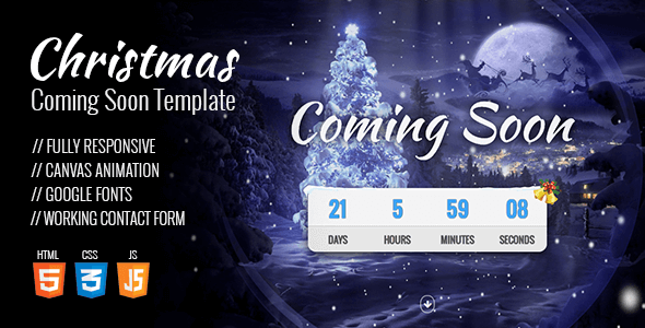 Christmas Coming Soon Template - Under Construction Specialty Pages
