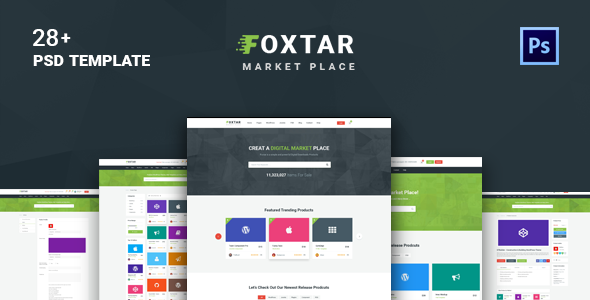 FOXSTAR – E-Commerce /  Digital Market Place / Online Store PSD Template