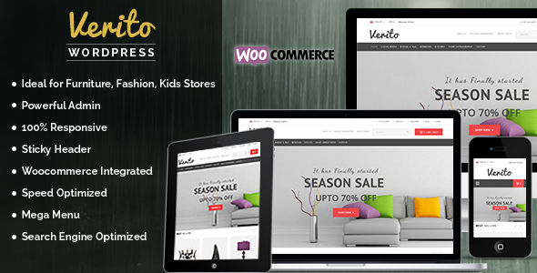 Verito – Furniture Store WordPress WooCommerce Theme