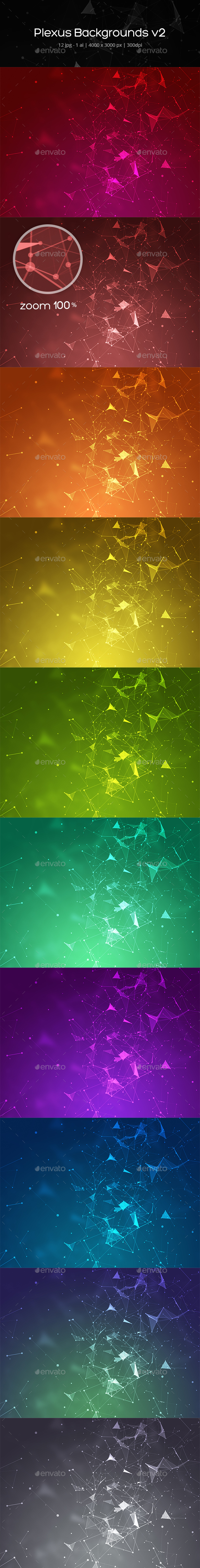 Plexus Backgrounds v2 - Abstract Backgrounds
