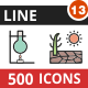 500 Vector Filled Line Icons Bundle (Vol-13) - GraphicRiver Item for Sale