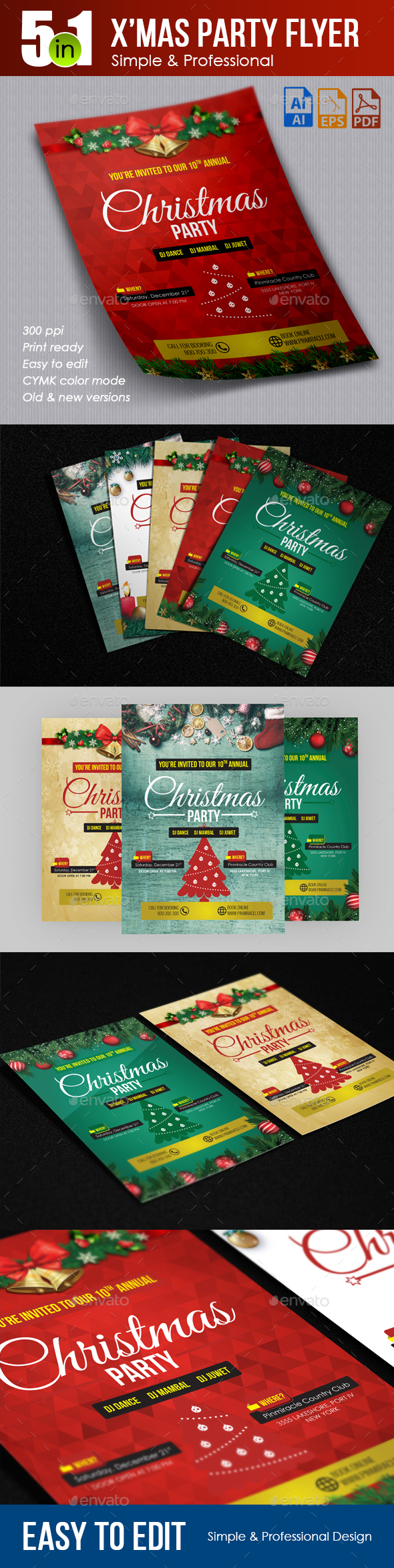 Xmas Party Invitation Flyer - Events Flyers