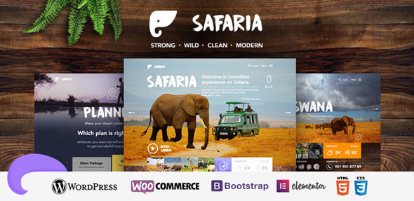 Safaria – Safari & Zoo WordPress Theme