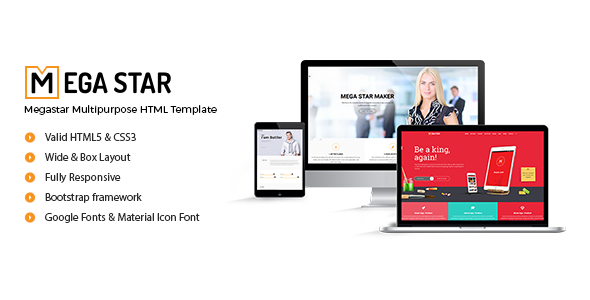Megastar – Multipurpose HTML Template