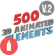 Download 3D Animated Elements Library from VideHive