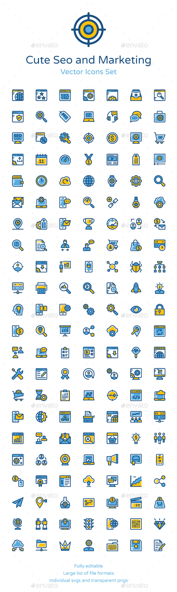 150+ Cute SEO and Marketing Icons - Icons