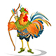 Rooster Cock Robin Hood - Folk Tale - GraphicRiver Item for Sale