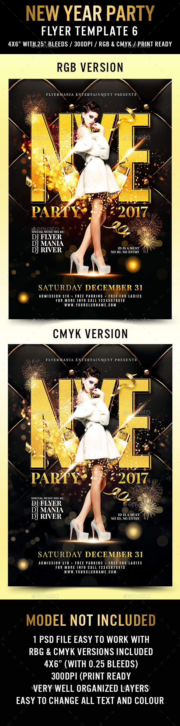 New Year Eve Party Flyer Template 6 - Flyers Print Templates