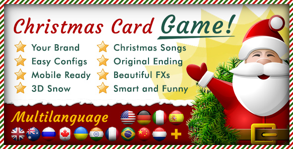 Christmas Card Unleash - Multilanguage Responsive HTML Game - CodeCanyon Item for Sale