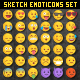 Big 36 Rough Sketch Vector Emoji - GraphicRiver Item for Sale